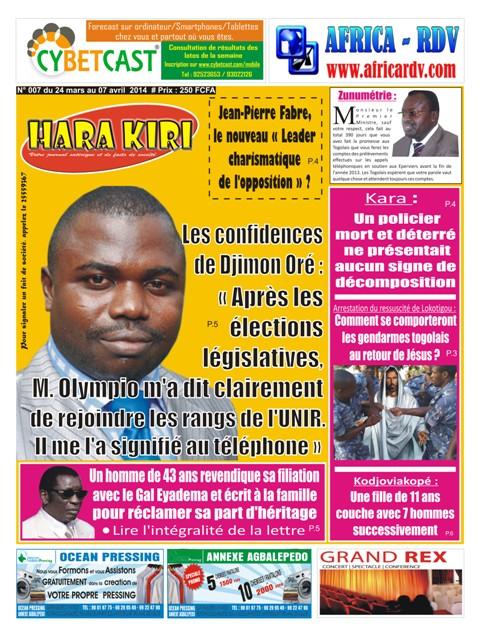 Hara kiri du 27 mars au 7 avril 2014 africa rendez vous - Les astuces pour rendre un homme fou au lit ...