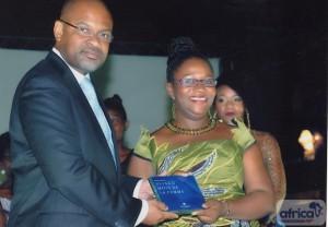 Epiphanie Houmey avec le Directeur de la VAC Togo