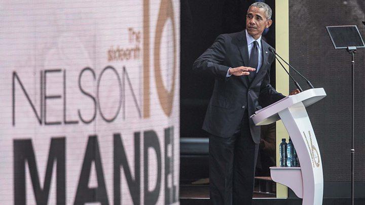 L'éloge de Barack Obama en l'honneur de Nelson Mandela